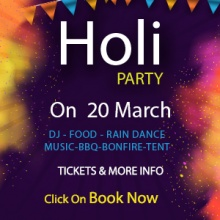Holi Event Beach Camping
